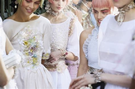 chanel cruise 2013 collection modern day antoinette fashion model backstage