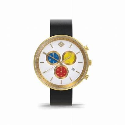 Chronograph Leather Watches Subdial Quartz British