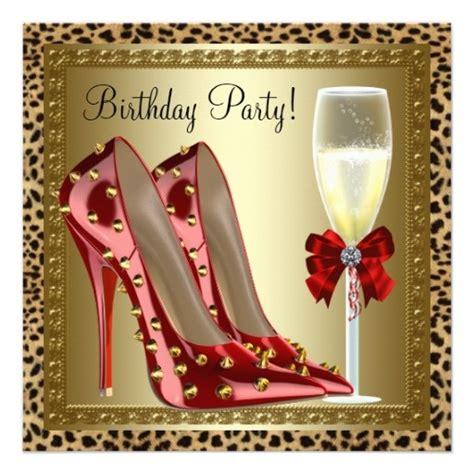 elegant cocktails red high heel shoes red  gold leopard