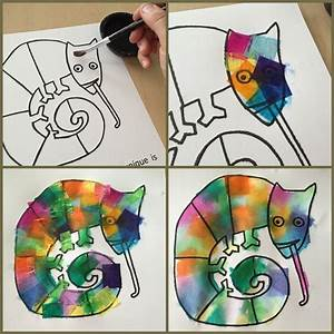 Use with Eric Carle's The Mixed Up Chameleon. Bleeding art ...