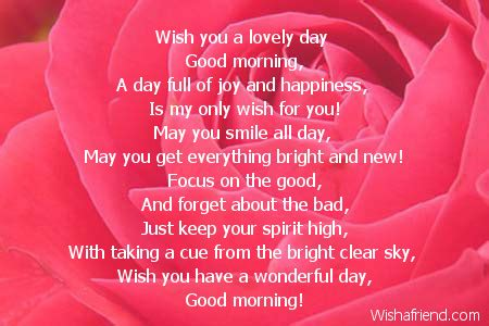 Good Morning Poems for Someone You Love
