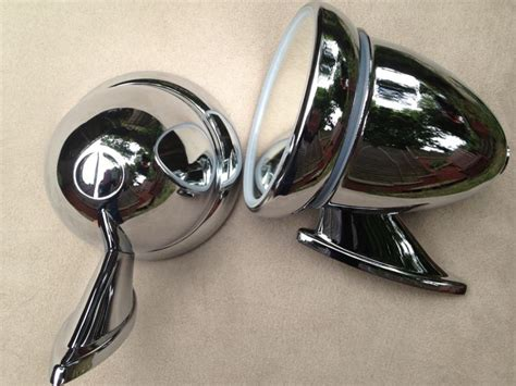 Classic English Sports Car Mirrors; Bullet Type
