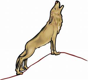 Howling Wolf Clip Art - Cliparts.co