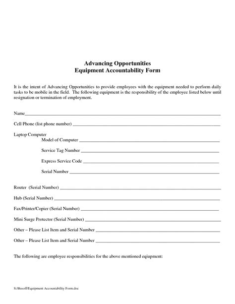 images  accountability form template helmettowncom
