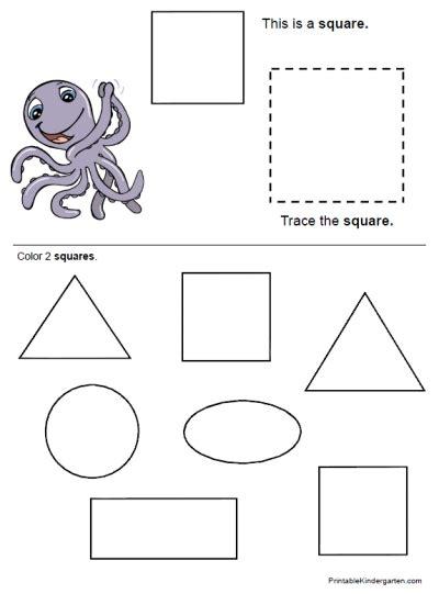 shapescolorsworksheets2 printable kindergarten