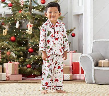 santa flannel pajama pottery barn kids