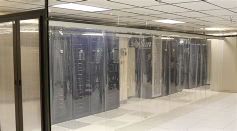 polarplex data center cold aisle containment curtains