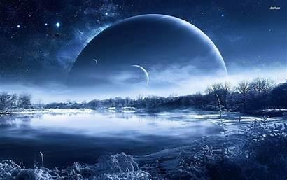 Planet Alien Landscapes Landscape Icy