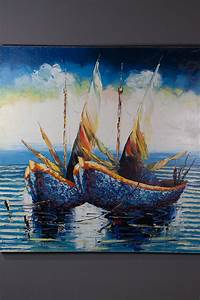 Tableau En Bois Décoration : tableaux d co design tableau marine peinture l huile ~ Teatrodelosmanantiales.com Idées de Décoration