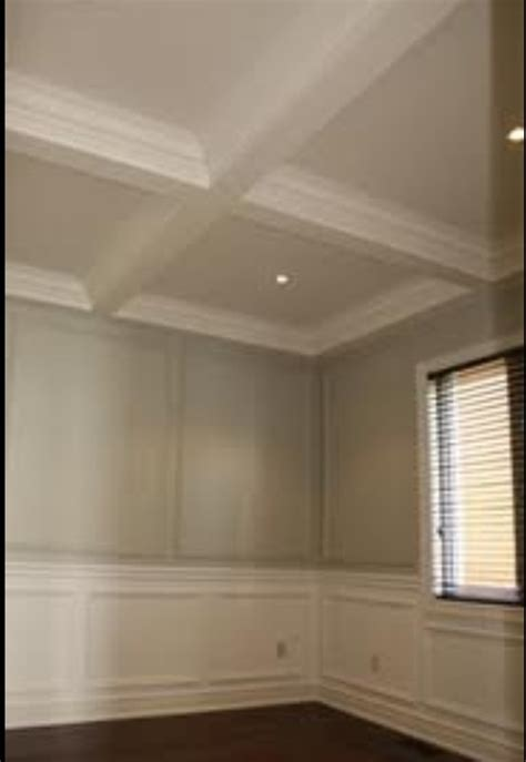 coffered ceiling wainscoting dining room wainscoting