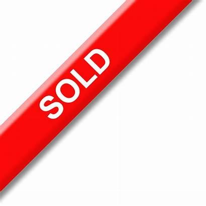 Sold Transparent Banner Clip Sign Clipart Background
