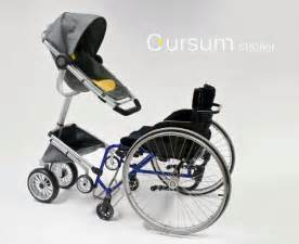 design kinderwagen cursum baby stroller for wheelchair usersuniversal design style