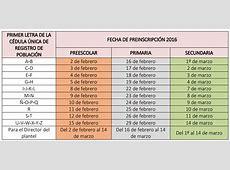 Preinscripciones SEP 20182019 CalendarioLaboralcommx