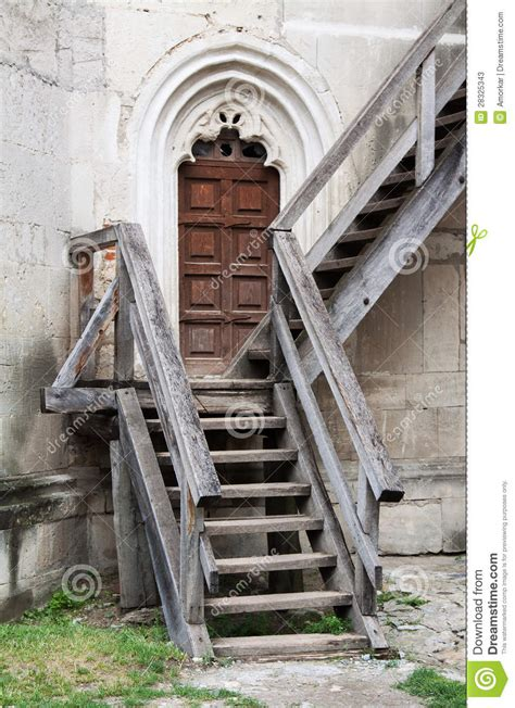 wooden stairs stock image image  antique