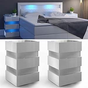 Nachttisch Für Boxspringbett Anthrazit : 2x nachttisch set led 70cm hoch f r boxspringbett wei ~ Michelbontemps.com Haus und Dekorationen