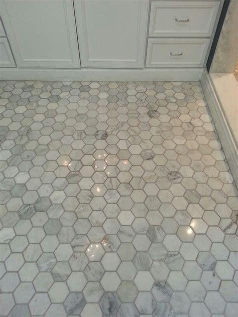 tile shop hampton carrara  hex diy bathroom design