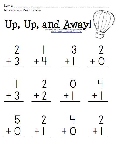 free addition practice for sums 0 5 at kinder craze at
