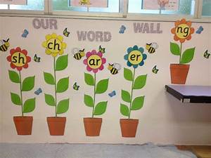 Flowers word wall classroom display photo gallery