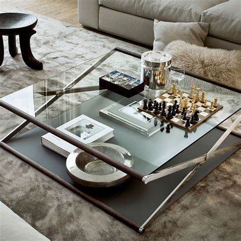 Couchtisch Glas Holz by Nox Glass Wood And Metal Coffee Table By Gallotti Radic