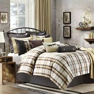 Khaki, Queen, Comforter, Set