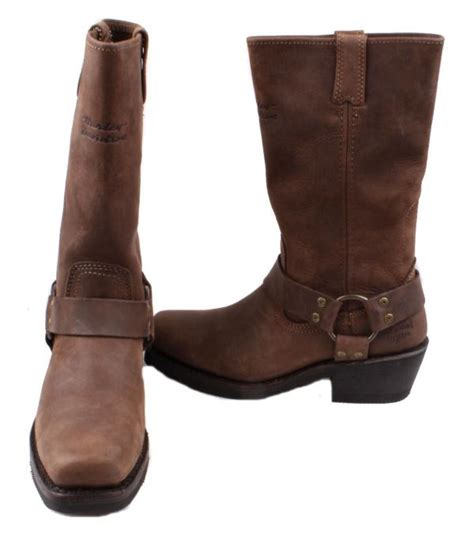 ladies harley riding boots harley davidson hustin womens brown leather pull on