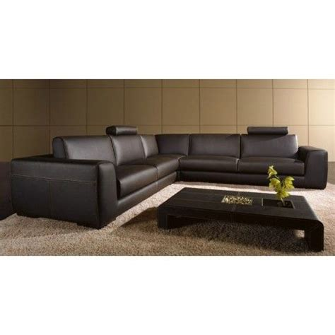 tosh furniture modern brown leather sectional sofa with coffee table modern furniture