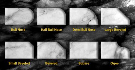 types  countertop edges   pros
