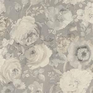 Tapete Blumen Modern : tapete barbara sch neberger blumen aquarell grau creme 527841 ~ Eleganceandgraceweddings.com Haus und Dekorationen