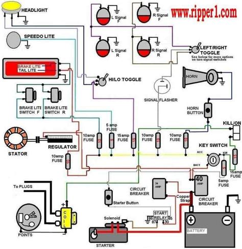 Chopper Wiring Diagram by 14 Best Mini Chopper Electrical Wiring Diagrams Images On