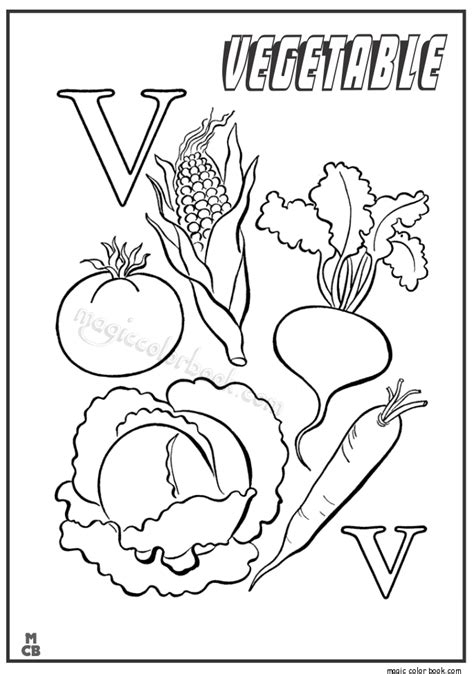 Coloring Vegetable by 50 Vegetable Coloring Page Free Vegetable Coloring