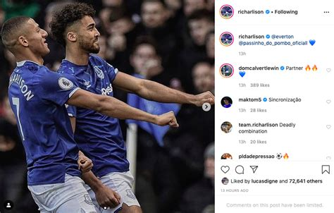 Everton's Dominic Calvert-Lewin comments on Richarlison ...