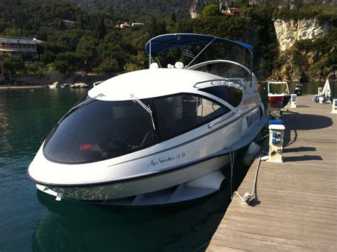 Hydrofoil Boat by Hydrofoil Speed Boat Trip Corfu Wmv