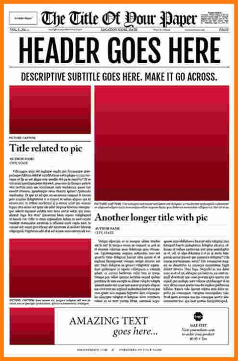 editable newspaper 10 newspaper template ledger paper