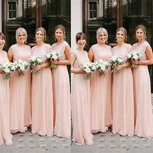 pin by sherri filley on and the bridal party wore With nude wedding dress