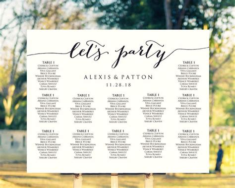Wedding Seating Chart Template It S Easy To Create Your Own Personalized Wedding Seating