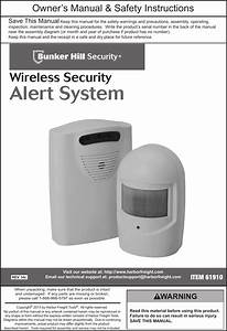 Manual For The 61910 Wireless Security Alert System