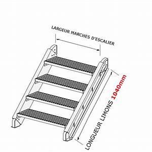Escalier 4 Marches : escalier galvanis en kit pour une hauteur de 0 5 0 9 m tres ~ Melissatoandfro.com Idées de Décoration