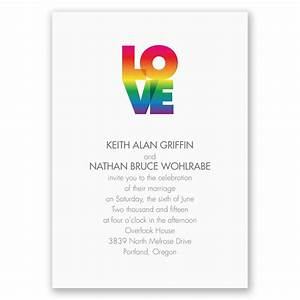 rainbow love invitation invitations by dawn With free printable gay wedding invitations