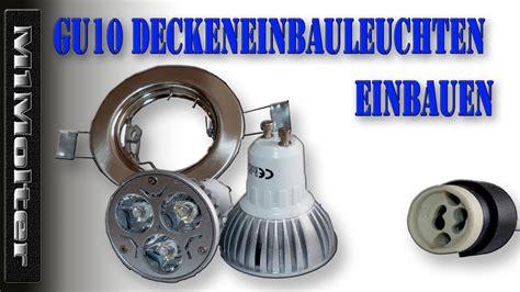 Led Einbaustrahler Wechseln by Gu10 Deckeneinbauleuchten Einbaustrahler Deckenspots