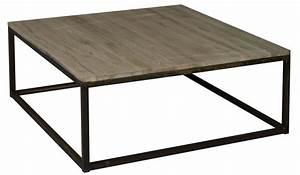 Table Basse Industrielle Carrée : table basse carr e industriel 1m x 1m en ch ne oxyd et m tal decostock ~ Teatrodelosmanantiales.com Idées de Décoration