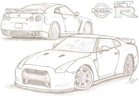 gtr coloring page coloring book