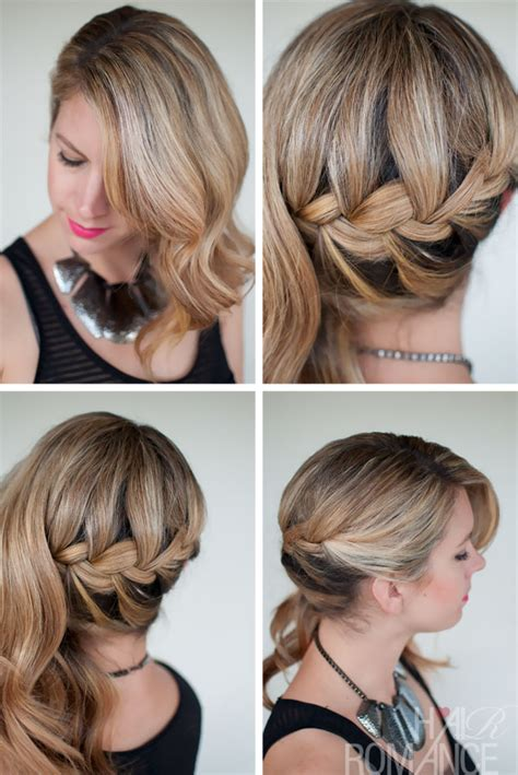 hair inspirations side swept french braid hairstyle for