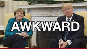In first Trump-Merkel meeting, awkward body language and a ...