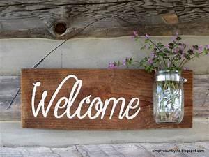 Simply Country Life: Rustic Barnwood Mason Jar Welcome ...