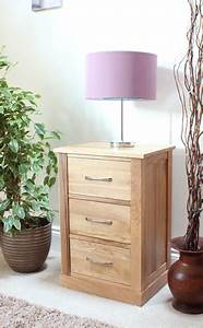 Mobel Oak Three Drawer Lamp Table