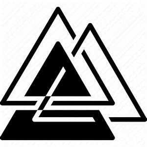 Asgard, logo, protection, triangle, trinity, valknut icon