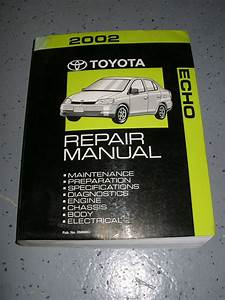 2002 Toyota Echo Service Manual Shop Repair Workshop