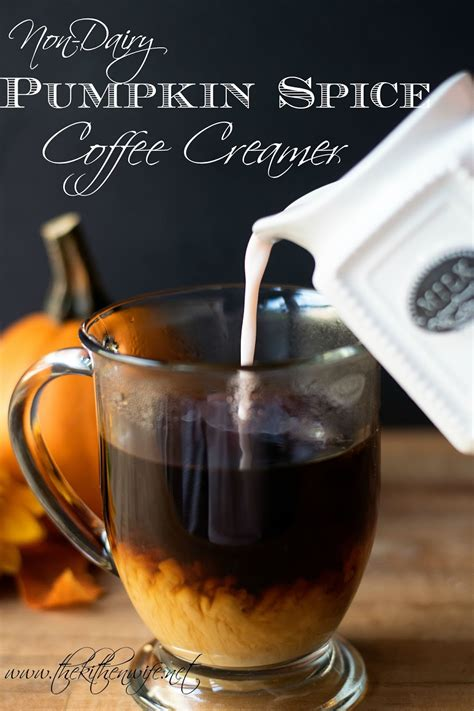 You can make this inexpensive pumpkin spice coffee creamer at home to add to your coffee. Non Dairy Pumpkin Spice Coffee Creamer - ~The Kitchen Wife~