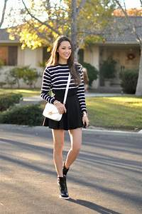 Shoes hapa time blogger bag skater skirt wedge sneakers striped sweater - Wheretoget