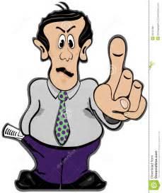 finger mann holding finger up stock vector illustration of